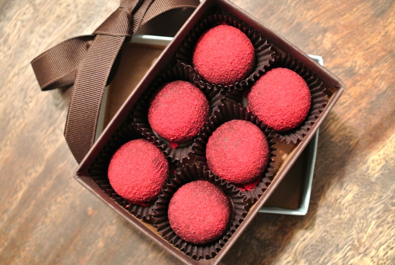 french broad chocolate lounge - fresh raspberry truffles