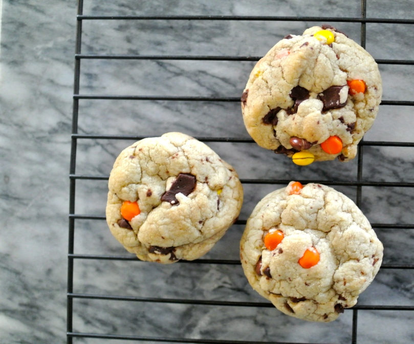 Chocolate Chunk and Candy Cookies // Flour and Fancy