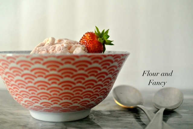 Sweet Strawberry Ice Cream // Flour and Fancy
