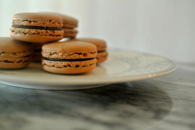 Chocolate Hazelnut French Macaroons // Flour and Fancy