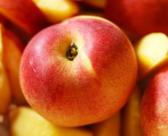 Easy Peach Crisp // Flour and Fancy